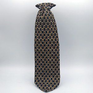 Hugo Boss Geomritic Brown Silk Tie